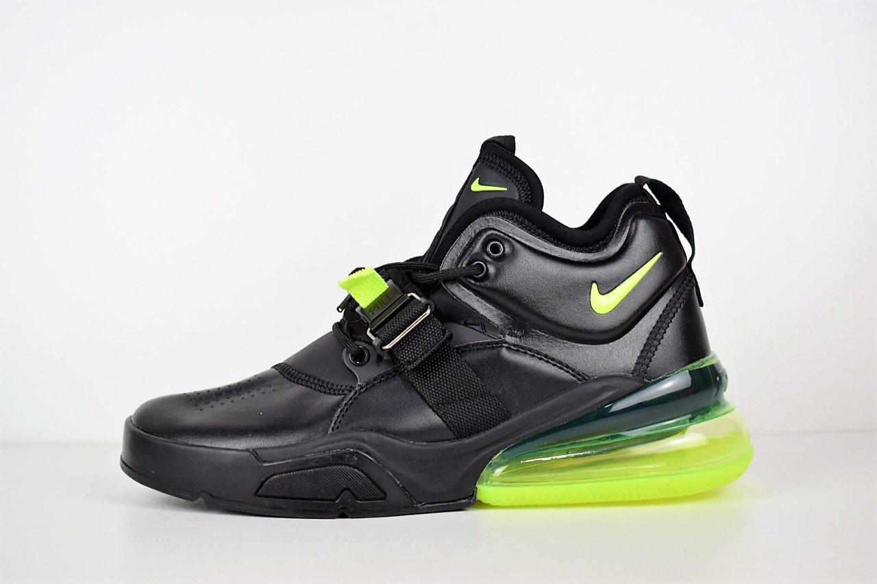 """Кроссовки Nike Air Force 270 """"Black Volt"""" (Черные)"""