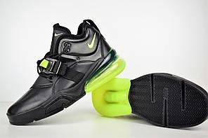 """Кроссовки Nike Air Force 270 """"Black Volt"""" (Черные), фото 3"""