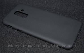 Чехол силиконовый Samsung A605/A6 Plus 2018 черный Smitt