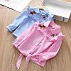 Стильна сорочка для дівчинки два кольори