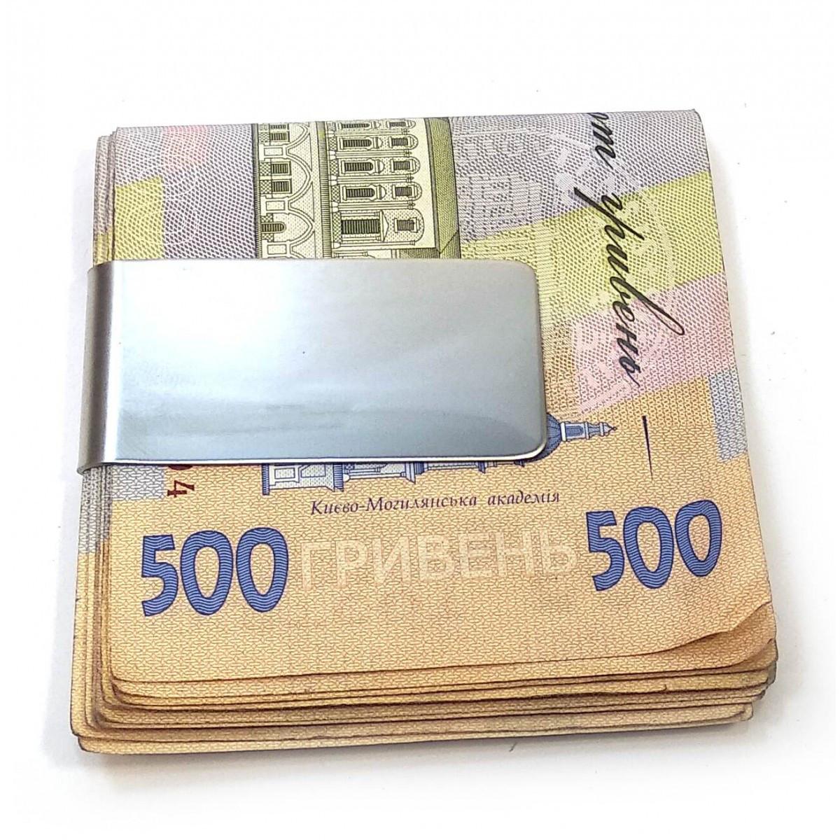 Зажим для денег металлический