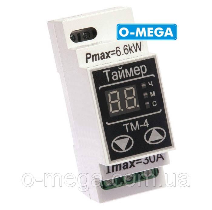 Таймер цифровой ТМ-4 30A многофункциональный