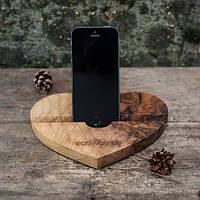Оригинальная подставка для телефона из дерева Сердце Практичная повседневная вещь Код: КГ5842