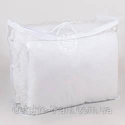 Сумка для упаковки текстиля, с верёвочными ручками, на молнии, прозрачная,  60*50*20 см