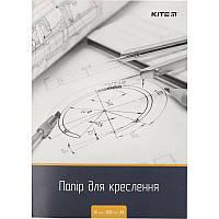 Бумага для черчения, А4, 10 листов, 200г/м2, KITE , K18-269