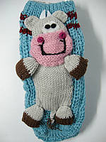 Носки домашние вязанные детские с 3-Д игрушкой, фото 1