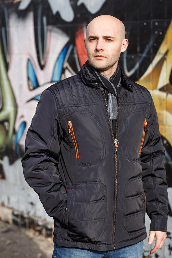 Демисезонная мужская куртка стеганая