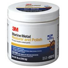 09019 Полировальная паста для восстановления и полировки металла - 3M Marine Metal Restorer & Polish 500 мл.