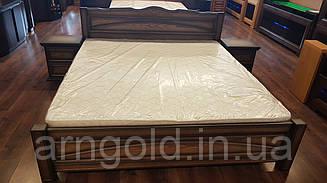 Кровать деревянная с резьбой, дубовая. Arngold