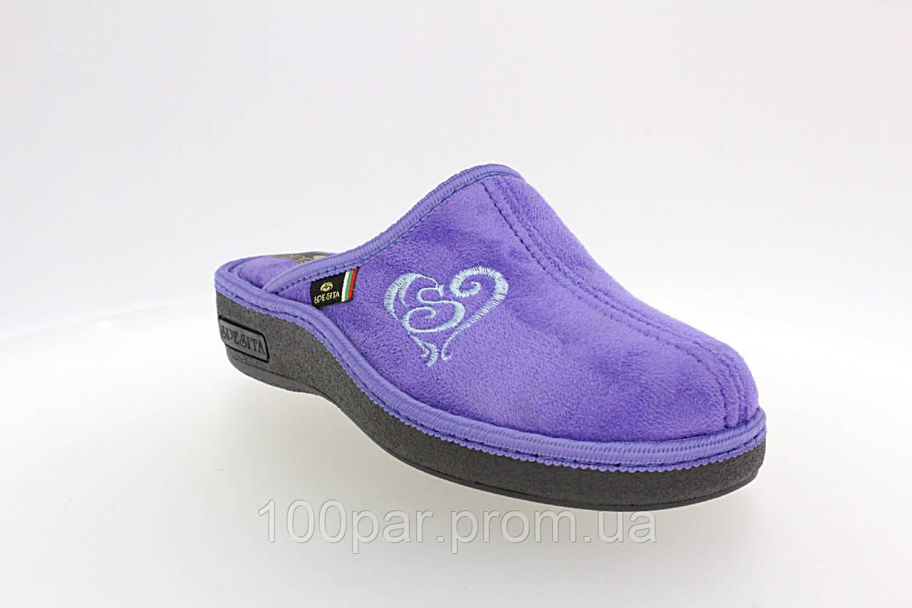 Домашние обувь Spesita. Женские домашние тапочки с анатомической подошвой,  17-161 lilla (36-41)