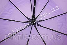 Женский зонт складной с ветровым клапаном полуавтомат. Зонтик от дождя. Сиреневый, фото 3