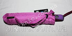 Женский зонт складной с ветровым клапаном полуавтомат. Зонтик от дождя. Фиолетовый, фото 3