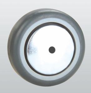 Колесо аппаратное из полиамида, с резиновым контактным слоем и подшипником скольжения 31-125х27-P