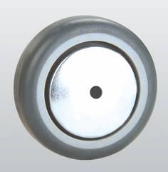 Колесо апаратне з поліаміду, з гумовим контактним шаром і підшипником ковзання 31-125х27-P