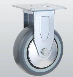 Колесо неповоротное с крепежной панелью 3107-S-125-P