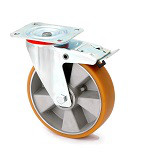 """Колесо поворотное в средне усиленном кронштейне """"Large"""" с крепежной панелью и тормозом 4404-LR-080-B"""
