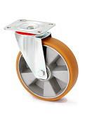 Колесо поворотное в средне усиленном кронштейне 4402-LR-200-B