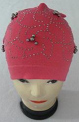 Модна легка осіння шапка на дівчинку 3-8 років, різні кольори