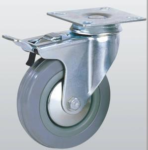 Колесо аппаратное поворотное с площадкой и тормозом 3004-S-050-P
