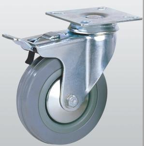 Колесо аппаратное поворотное с площадкой и тормозом 3004-S-100-P