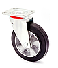 Колесо поворотное алюминий/резина серия 17 STANDART 1702-ST-080-B