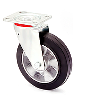 Колесо поворотное алюминий/резина серия 17 STANDART 1702-ST-125-B