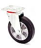 Колесо поворотное алюминий/резина серия 17 STANDART 1702-ST-200-B