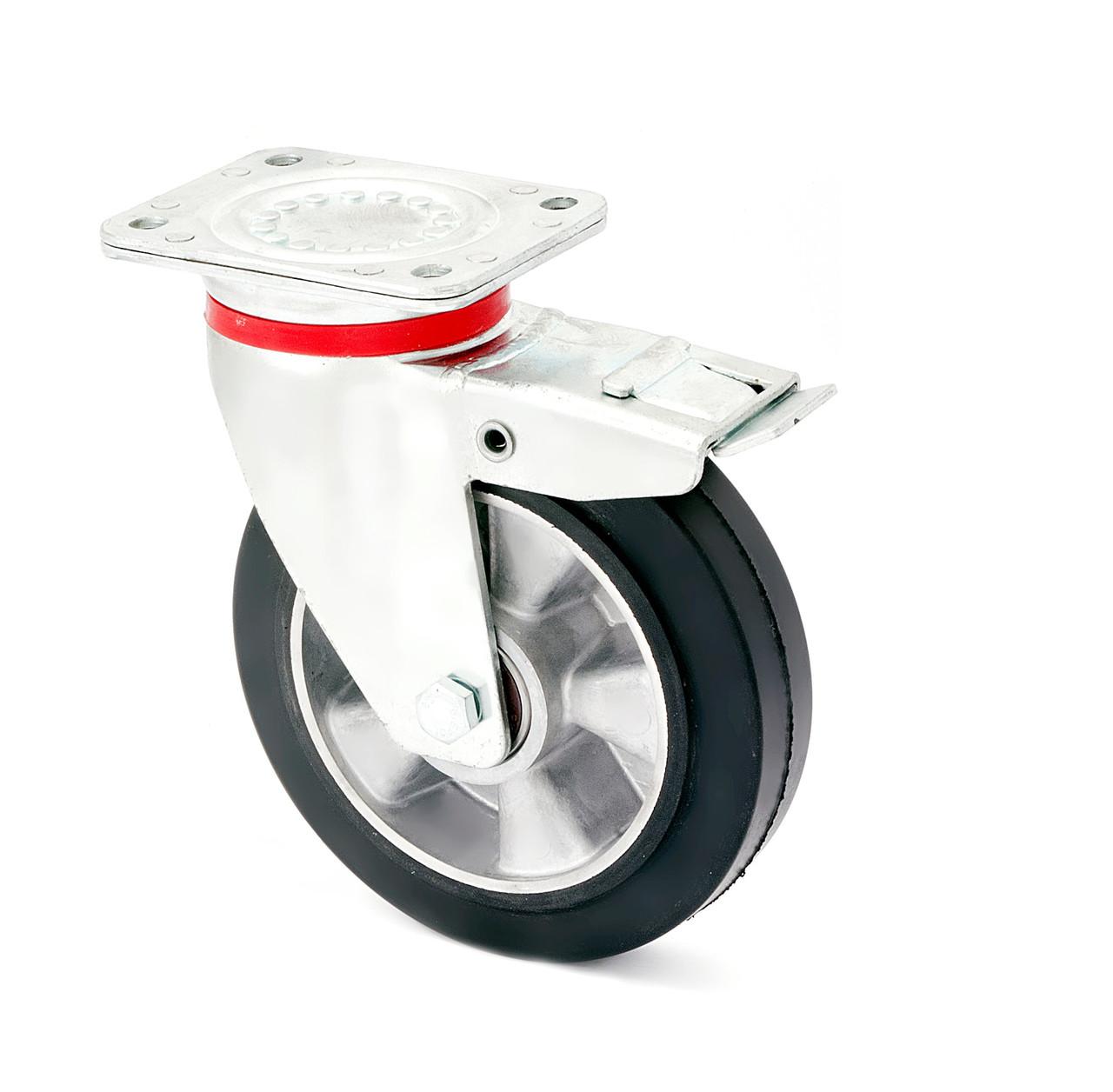 Колесо поворотне посилене з торомзом 1704-LR-100-B