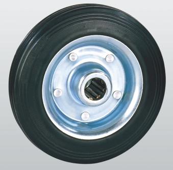 Колеса з чорної гуми з роликовим підшипником 10-200х50-R