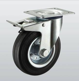 Колесо поворотное с крепёжной панелью и тормозом 1104-ST-125-R
