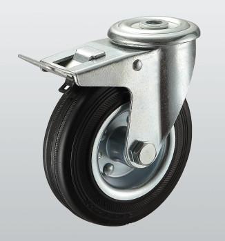 Колеса поворотные с отверстием и тормозом 1106-ST-125-R