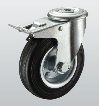 Колеса поворотные с отверстием и тормозом 1106-ST-200-R