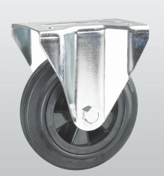 Колесо неповоротное с крепежной панелью PROFI 1207-PF-200-P