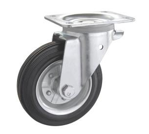 Колесо поворотное PROFI с крепёжной панелью 1402-PF-200-R