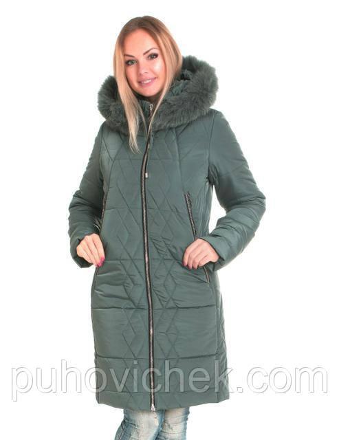 Зимние женские куртки больших размеров с натуральным мехом