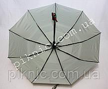 Женский зонт складной с ветровым клапаном полуавтомат. Зонтик от дождя. Серый, фото 2