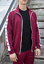 Мастерка олимпийка мужская бордовая бренд ТУР модель Смоук (Smoke) размер XS, S, M, L, XL, фото 2