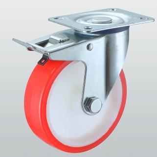 Колесо поворотное STANDART с крепежной панелью и тормозом 4304-ST-100-R