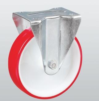 Колесо неповоротное STANDART с крепежной панелью 4307-ST-125-R