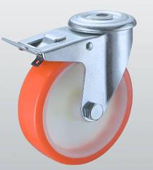 Колесо поворотне STANDART з отвором і гальмом 4306-ST-080-R