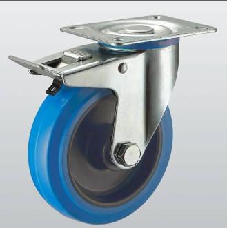 Колесо поворотное с крепежной панелью и тормозом 3304-ST-125-R
