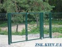 Ворота из сетки Класик рама 40х40мм. Высота 2,03м, ширина 4м код VTK-09111