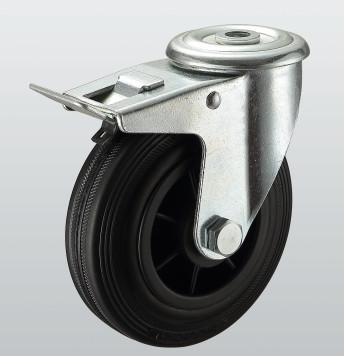 Колесо поворотное с отверстием и тормозом STANDART 1206-ST-160-P