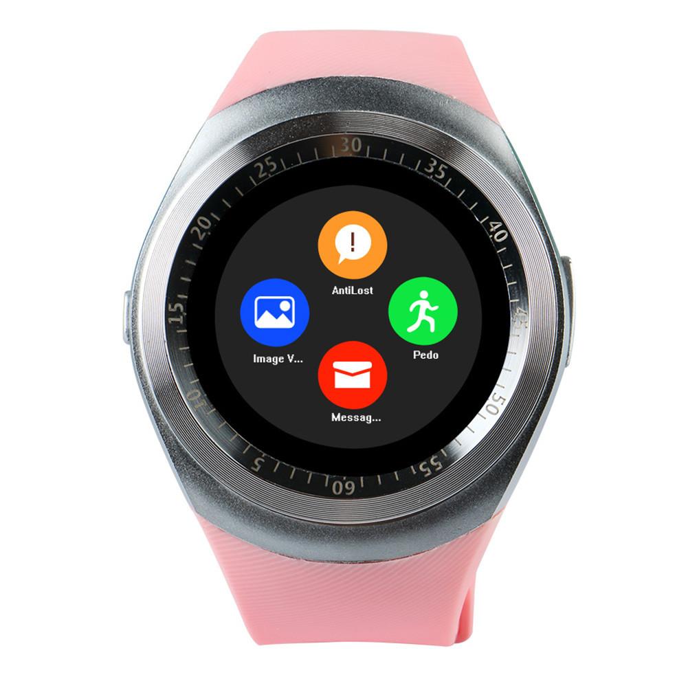 Часы Smart Watch Y1 Pink Гарантия 1 месяц