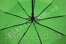 Женский зонт складной с ветровым клапаном полуавтомат. Зонтик от дождя. Салатовый, фото 3