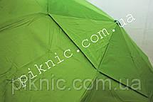 Женский зонт складной с ветровым клапаном полуавтомат. Зонтик от дождя. Салатовый, фото 2