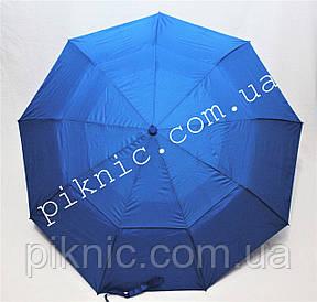 Женский зонт складной с ветровым клапаном полуавтомат. Зонтик от дождя. Светло синий, фото 2