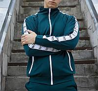 Мастерка олимпийка мужская зеленая (хаки) бренд ТУР модель Смоук (Smoke) размер XS, S, M, L, XL