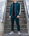 Мастерка олимпийка мужская зеленая (хаки) бренд ТУР модель Смоук (Smoke) размер XS, S, M, L, XL, фото 5
