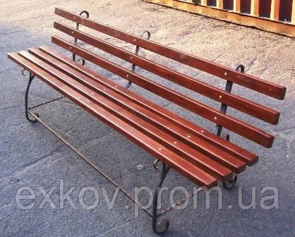 Садовые скамейки из металла - Ковка24 - Художественная ковка в Киеве